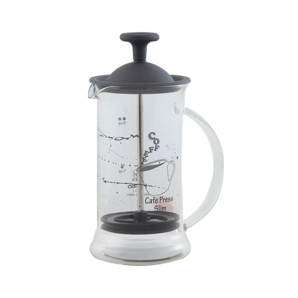 French Press - Hario Cafe Press Slim S Transparent, Fekete